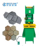 hydraulic stone stamper for recycling waste stone tiles